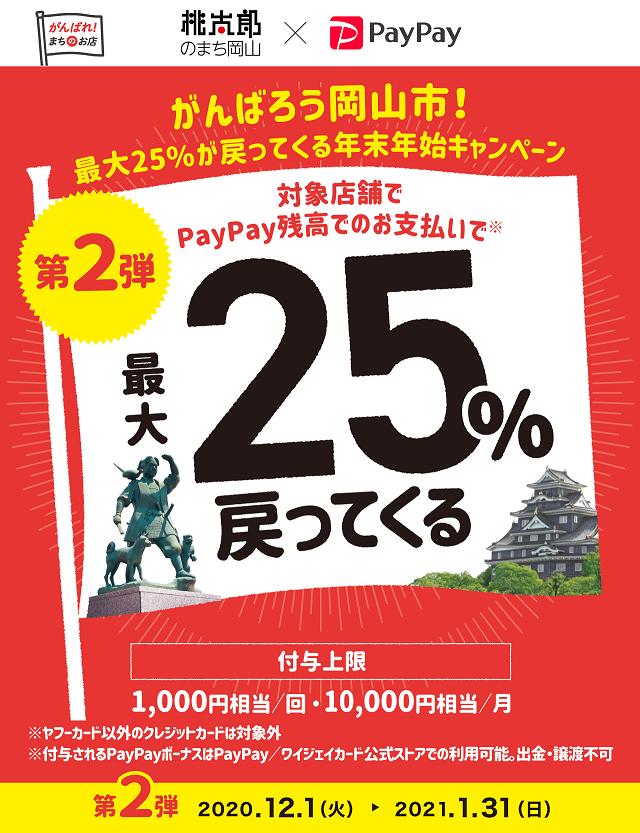 がんばろう岡山市!PayPayキャンペーンのお知らせ。